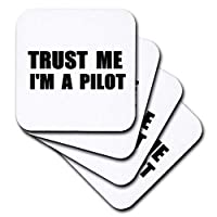 CST _ 195646InspirationzStore Trust meシリーズ–Trust Me Im Aパイロット。PilotingまたはAir Force作業ユーモア。Funnyジョブギフト–コースター set-of-4-Soft cst_195646_1