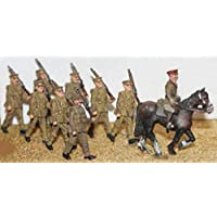 Langleyモデル8 Soldiers + 1マウント1908 – 37期間ww1 OOスケール未塗装キットf50