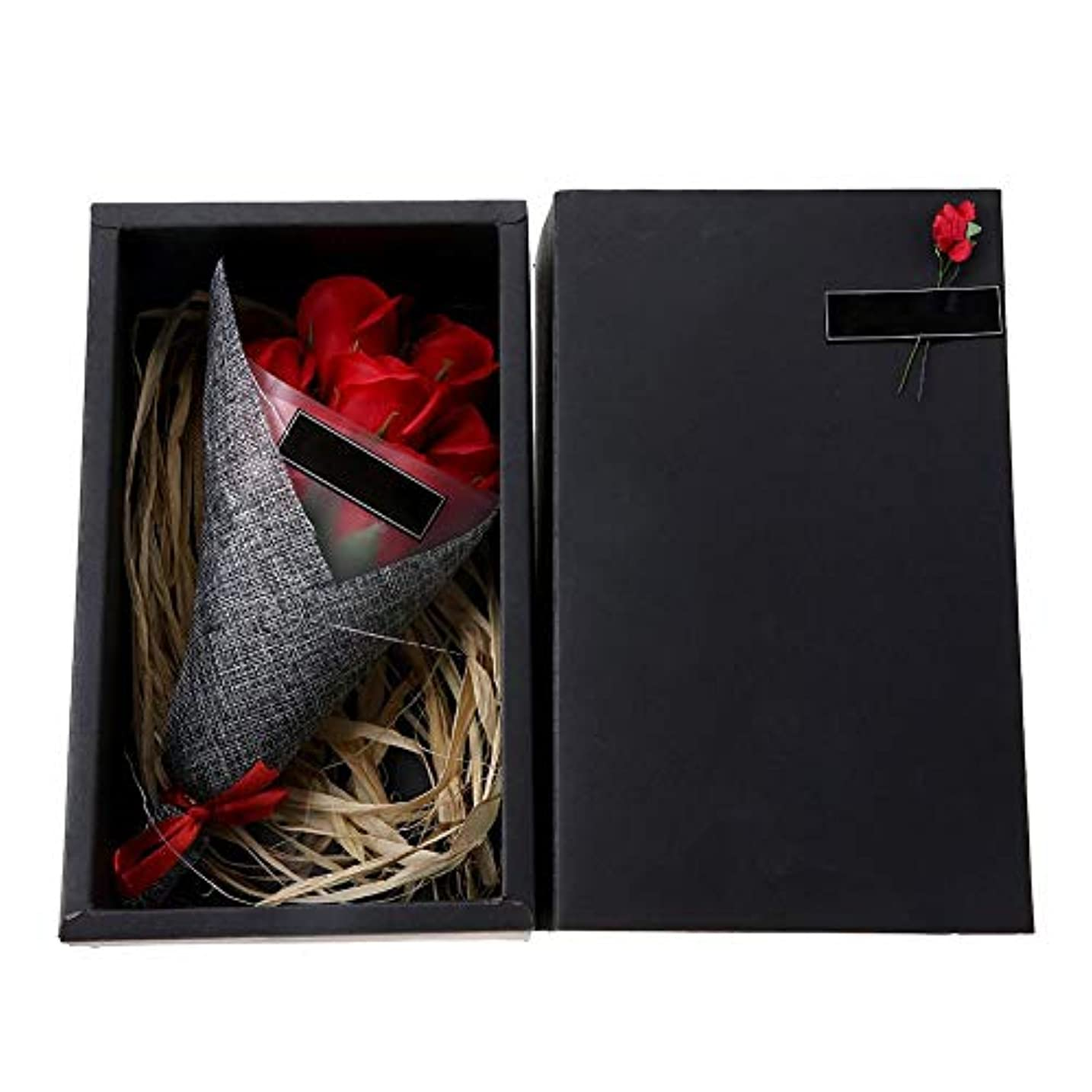 同盟ランチ中世の石鹸の花-フランケンラントソープペタルフラワーフェアリーライトバレンタイン母の日のための部屋の装飾ギフト(赤いバラ)