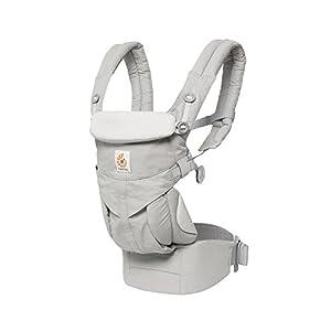 エルゴベビー(Ergobaby) 抱っこひも おんぶ 前向き抱き [日本正規品保証付] (洗濯機で洗える) ベビーキャリア 成長にフィット オムニ360/パールグレー ADAPT CREGBCS360GRY