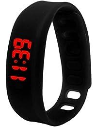 Tonsee レディース ファッション腕時計 超薄型 シリコーン デジタル LED スポーツブレスレット ウォッチ ユニセックス