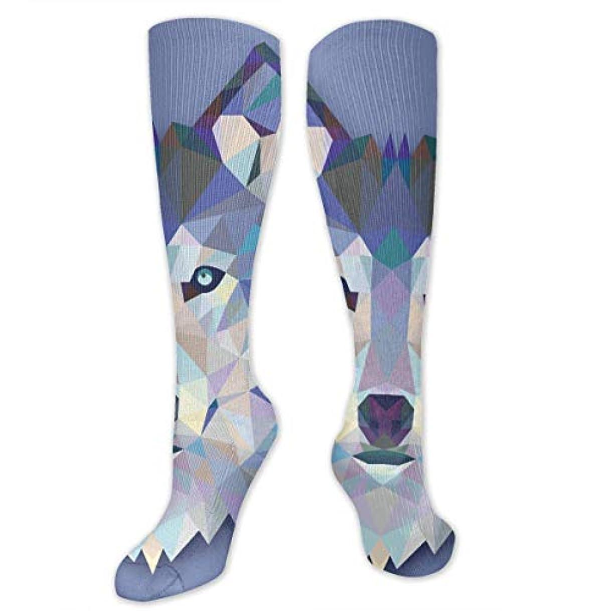 アトム感性小学生靴下,ストッキング,野生のジョーカー,実際,秋の本質,冬必須,サマーウェア&RBXAA Wolf Socks Women's Winter Cotton Long Tube Socks Knee High Graduated...