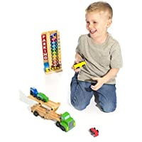 Melissa and Doug Stack and Count Garage and Car Carrier [並行輸入品]