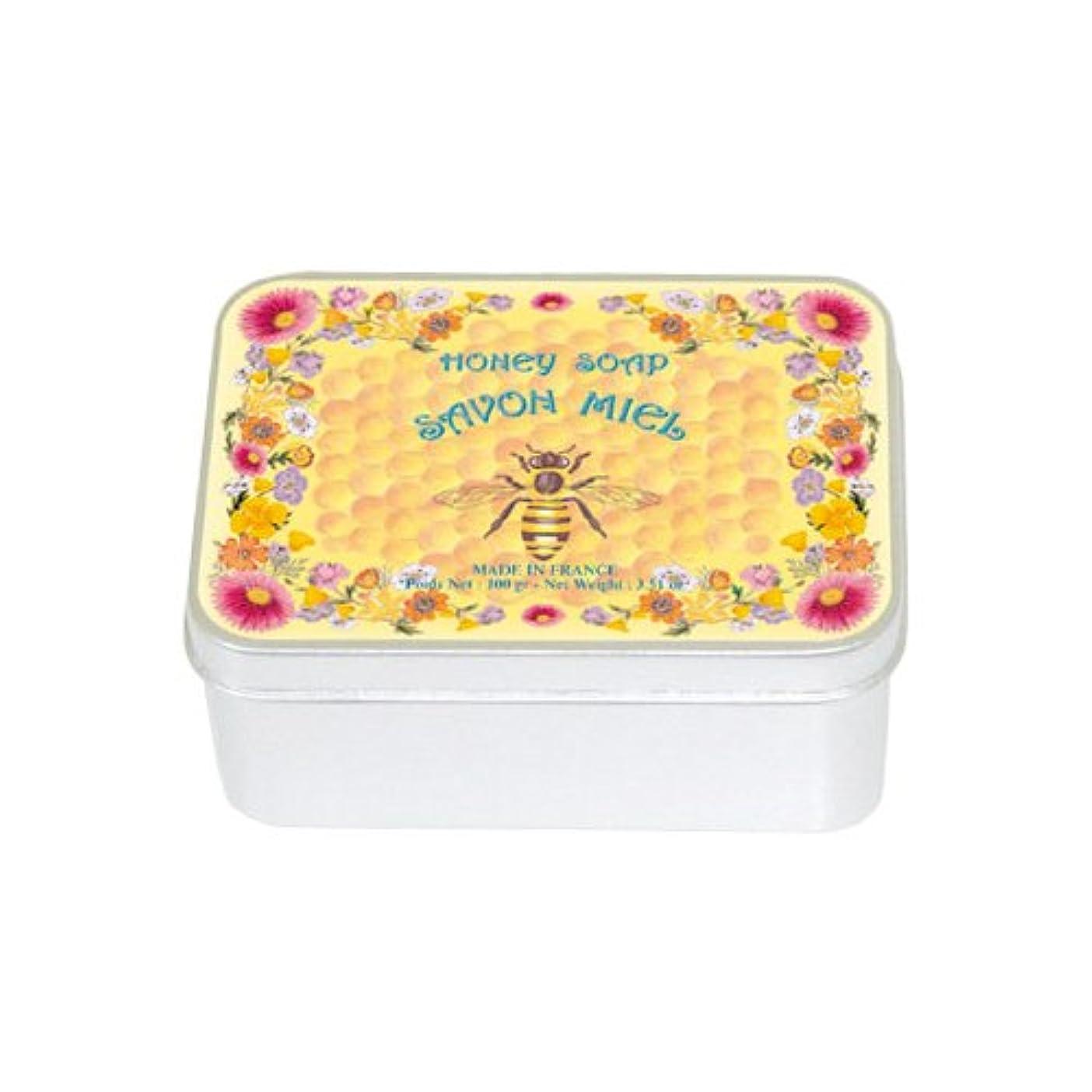 オープナーコンパス甘くするルブランソープ メタルボックス(ハチミツの香り)石鹸