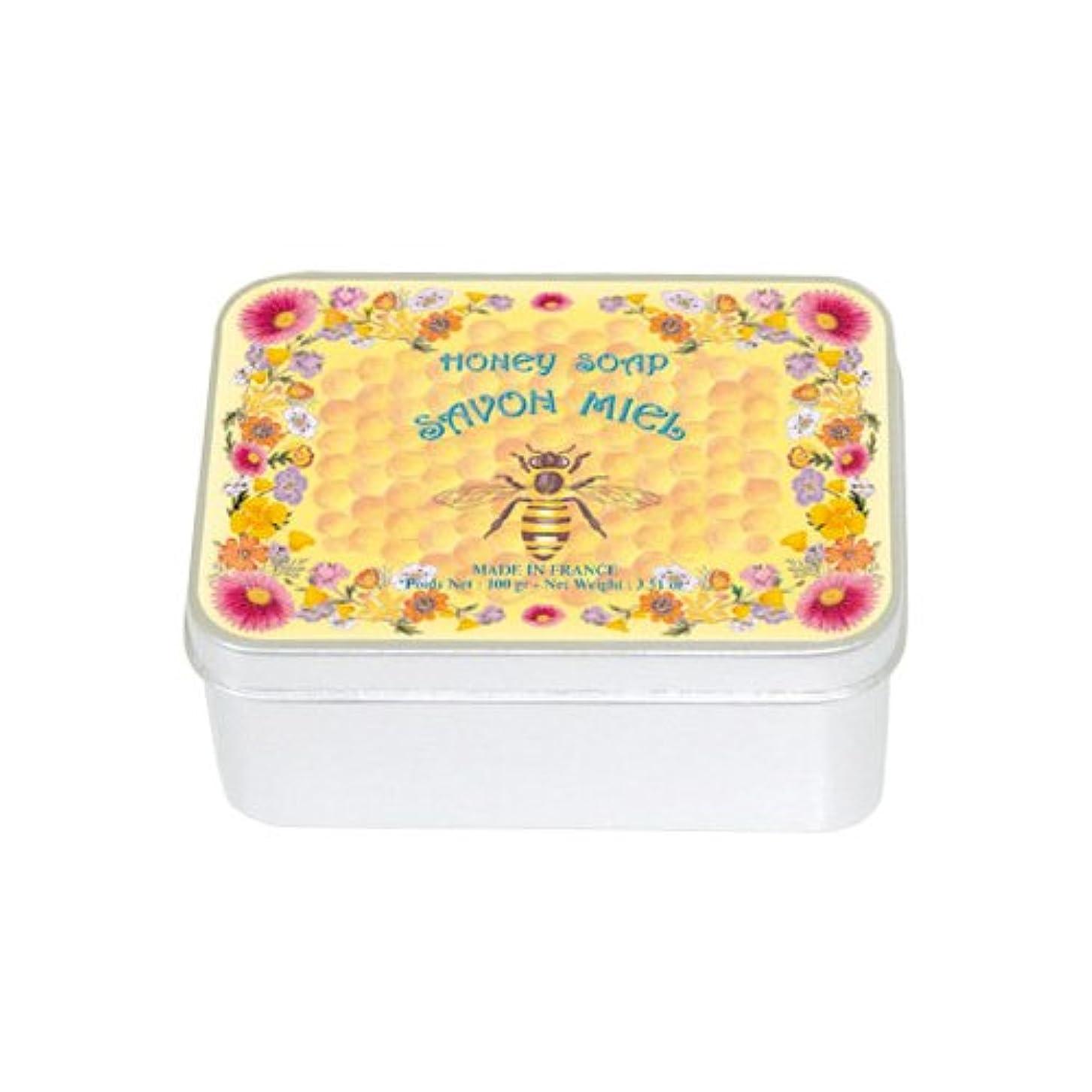 田舎者教える迷彩ルブランソープ メタルボックス(ハチミツの香り)石鹸