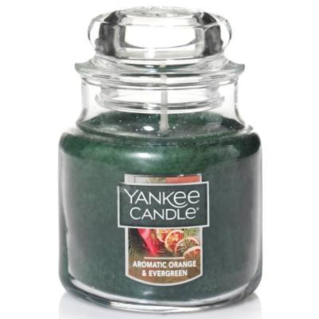 患者大洪水ママYankee Candle Aromaticオレンジ& Evergreen Small Jar Candle