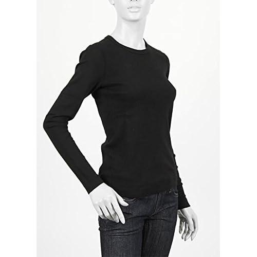 (スリードッツ) three dots クルーネック長袖Tシャツ Sサイズ Alex T BLACK [並行輸入品]