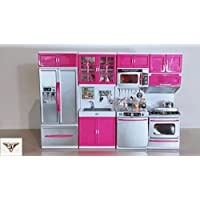 SY Doll Playsets My Modern Kitchen Full Deluxe Kit with Lights and Sounds(4 SET)