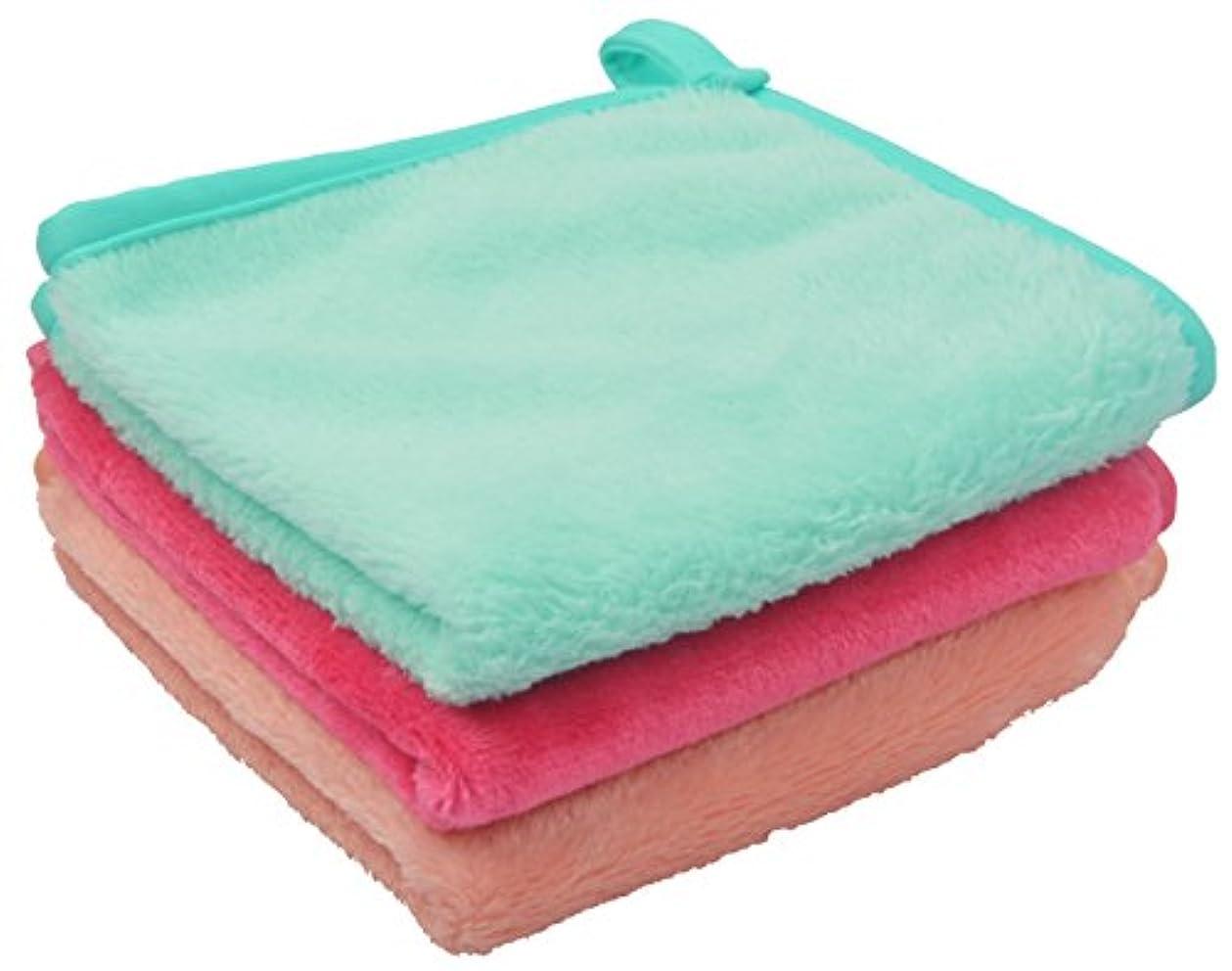 ジャケットきつくシガレットSinland メイク落としタオル 柔らかい クレンジング タオル 敏感肌用タオル (30cmx30cm, ライトグリーン+ピンク+オレンジ)