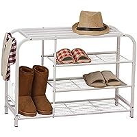 YNN 靴白い靴ベンチ3段鉄の靴箱シェルフ寝室廊下の玄関用