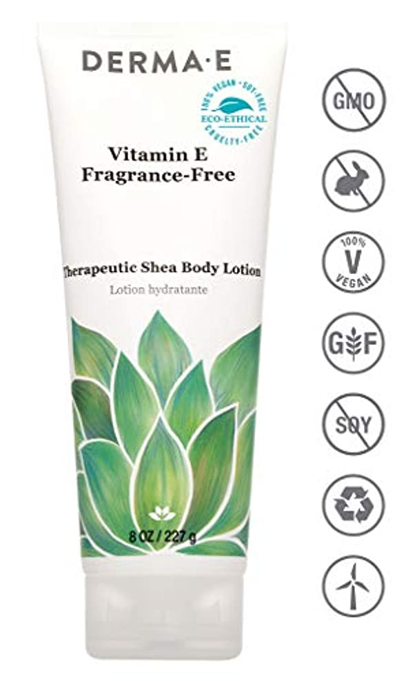故障中札入れ孤児Derma E Therapeutic Vitamin E Intense Moisture Body Lotion - Fragrance-Free 227g/8oz並行輸入品