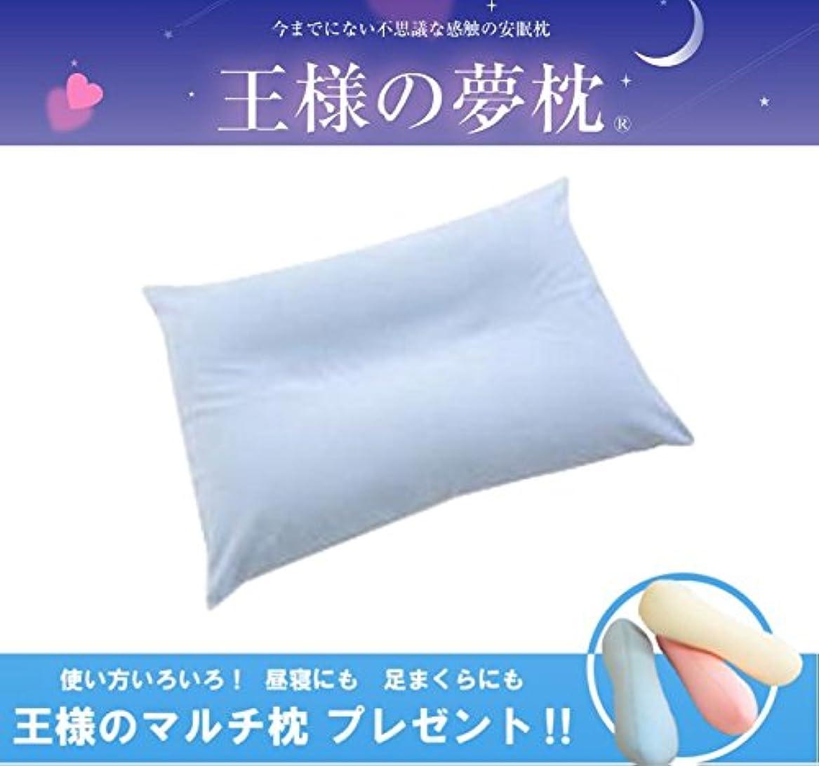 スタジオ特別な作り王様の夢枕 ブルー (専用カバー付) W52×D34×H12cm 【王様のマルチ枕をプレゼント】