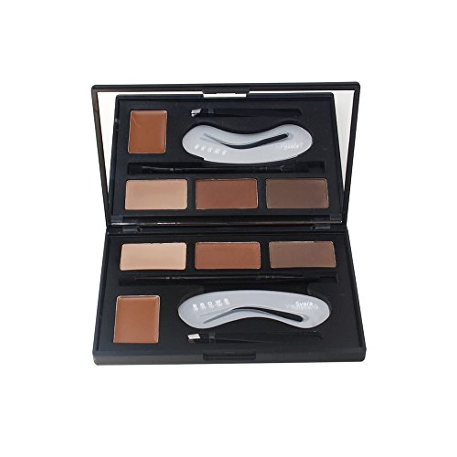 リラックスインレイカウンターパート4色のアイシャドウの眉毛の粉はパレット女性の美セットを構成します