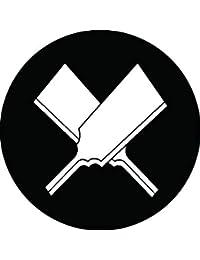 家紋シール 違い羽子板紋 布タイプ 直径40mm 6枚セット NS4-0032