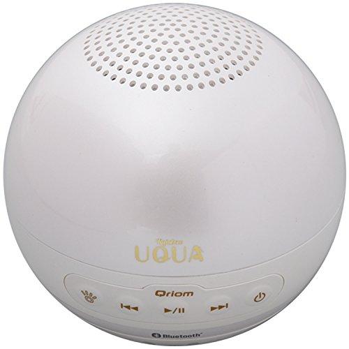 山善(YAMAZEN) キュリオム ワイヤレススピーカー Bluetooth対応 お風呂に浮かぶ ウクア(UQUA) ピュアパープルホワイト YBP-32BT(PPW)