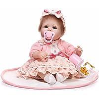 Herin LifelikeビニールRebornベビー人形、新生児幼児人形17 in 42 cm青い目キュートソフトボディおもちゃキッズ誕生日クリスマスギフト