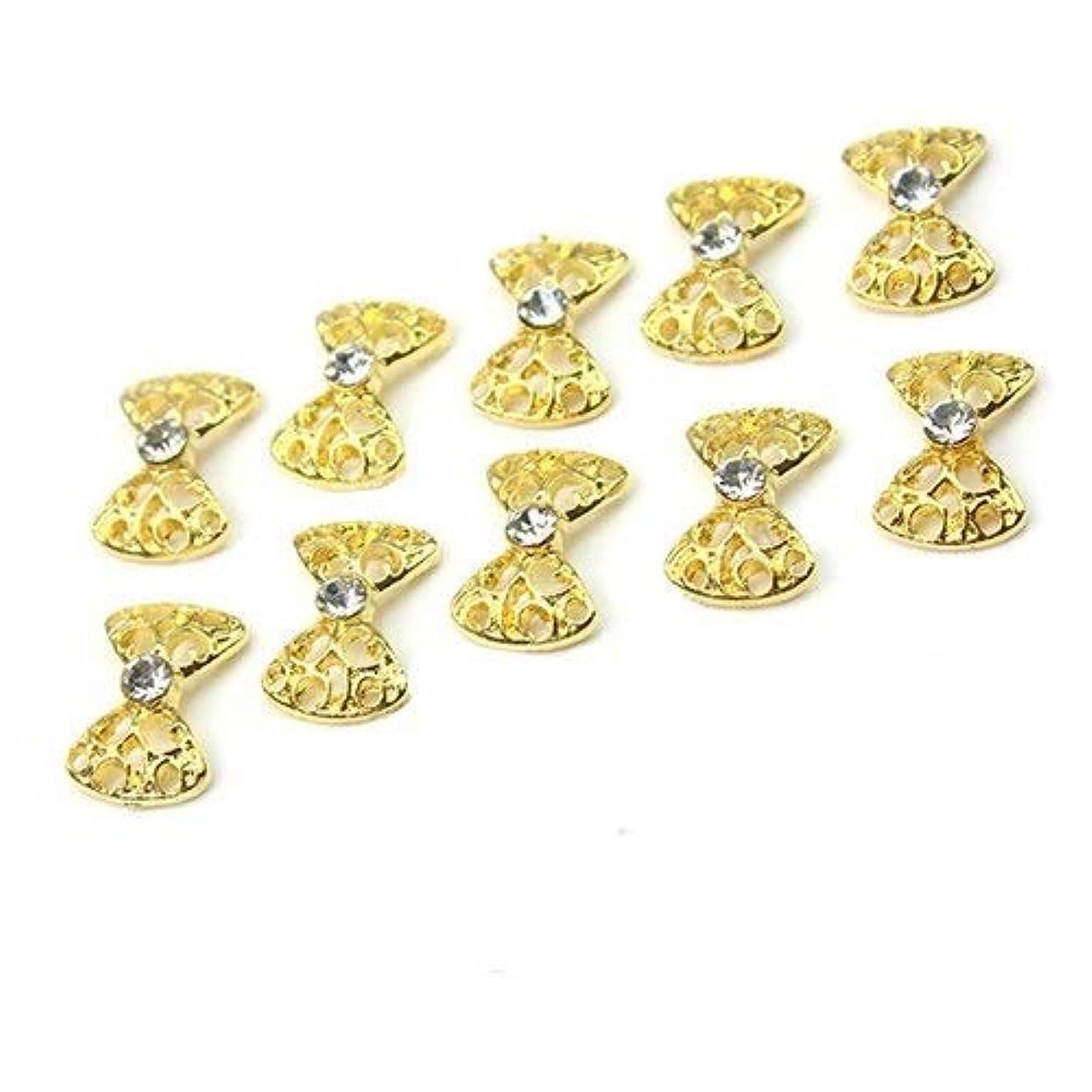 HAPPY HOME エレガントな合金のラインストーン蝶ネクタイネイルアートグリッターDIYの装飾