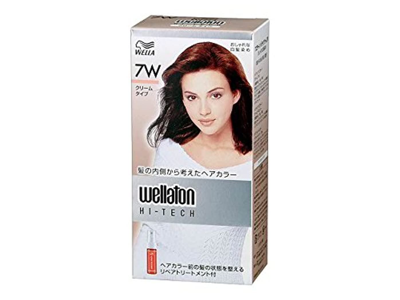 乳サンダル戻る【ヘアケア】P&G ウエラトーン ハイテック クリーム 7W 暖かみのある明るい栗色 医薬部外品 白髪染めヘアカラー(女性用)×24点セット (4902565140541)