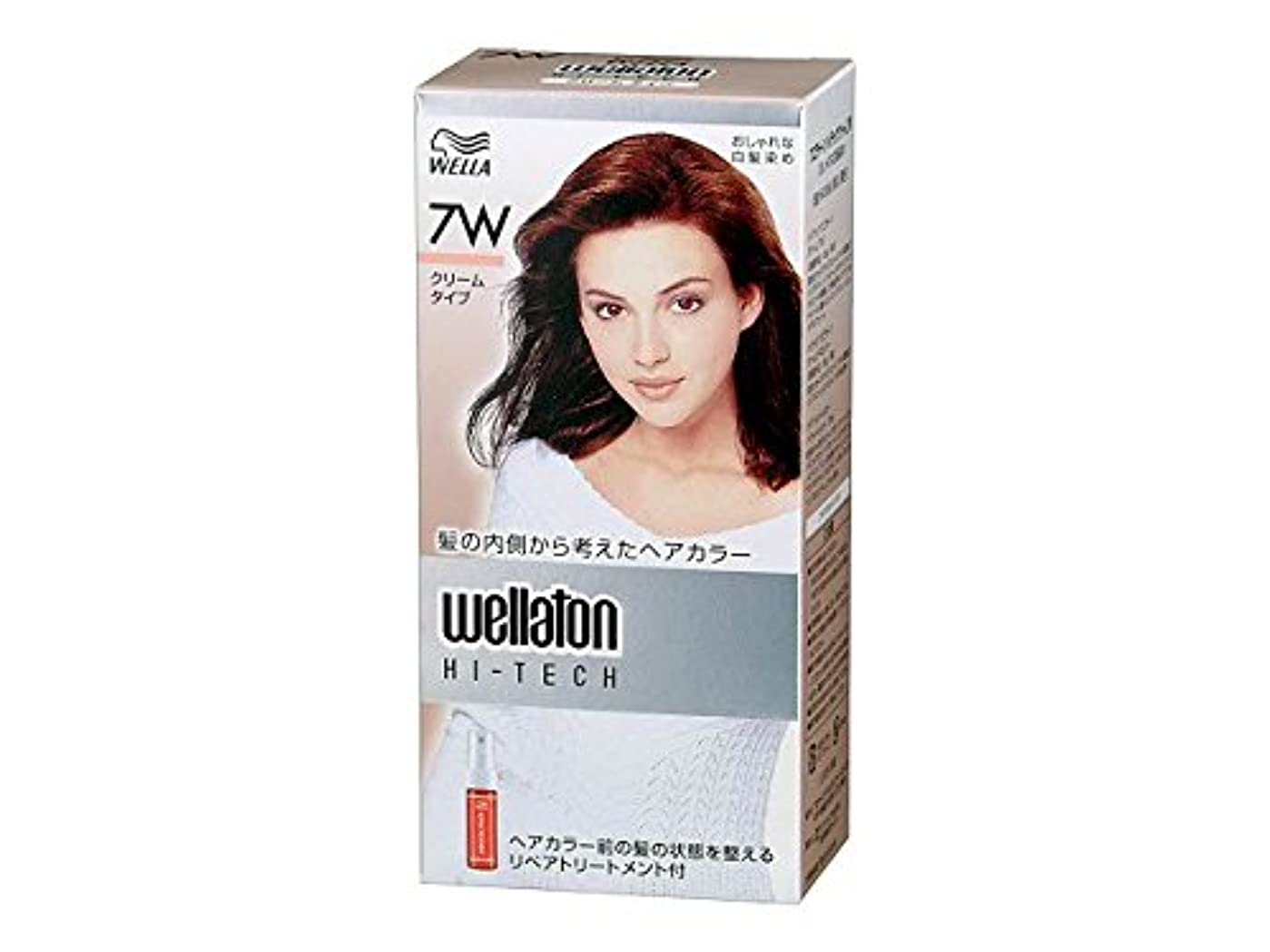 から借りているの前で【ヘアケア】P&G ウエラトーン ハイテック クリーム 7W 暖かみのある明るい栗色 医薬部外品 白髪染めヘアカラー(女性用)×24点セット (4902565140541)