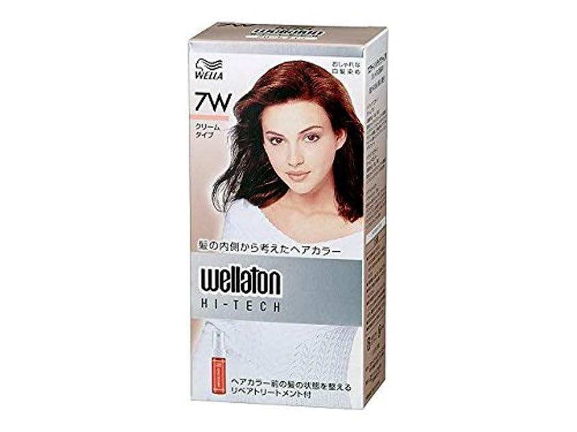 予約塗抹差別【ヘアケア】P&G ウエラトーン ハイテック クリーム 7W 暖かみのある明るい栗色 医薬部外品 白髪染めヘアカラー(女性用)×24点セット (4902565140541)