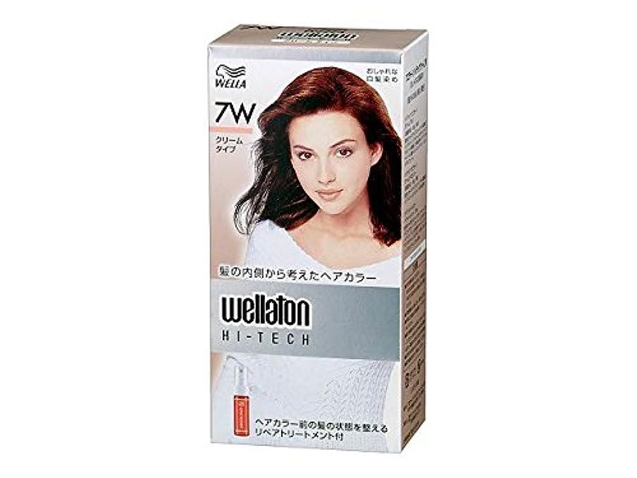お祝い石の乳【ヘアケア】P&G ウエラトーン ハイテック クリーム 7W 暖かみのある明るい栗色 医薬部外品 白髪染めヘアカラー(女性用)×24点セット (4902565140541)