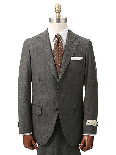 (ユニバーサルランゲージ) 春夏/HAND MADE/3つボタンスーツ 織柄 TR-10 ミディアムグレー