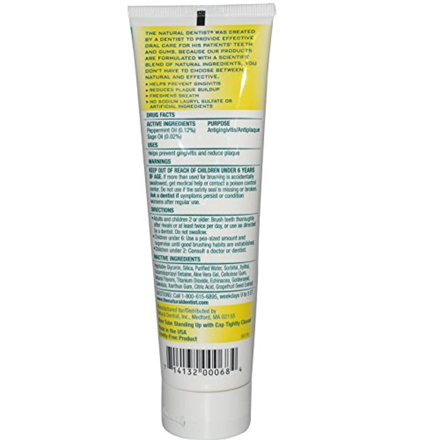 Fluoride Free Toothpaste Pepperrmint Sage - 5 oz by Natural Dentist