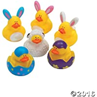 One Dozen (12) Easter Rubber Ducky Party Favors [並行輸入品]