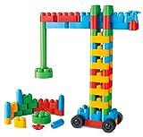 Hape PolymクリエイティブBuilder Kit Building Blocks ( 80ピース)、マルチカラー