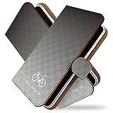 URBANO V04 ケース 手帳型 自転車 チャリ 鼠白 チャリンコ 手帳 カバー アルバーノ ブイ04 手帳型ケース 手帳型カバー サイクリング [自転車 チャリ 鼠白/t0737]