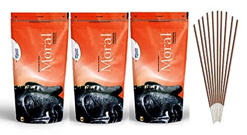 回転するカフェテリア石炭FLORISH FRAGRANCE Moral Orange Incense Sticks Pack of 3 (140 Gm Each)