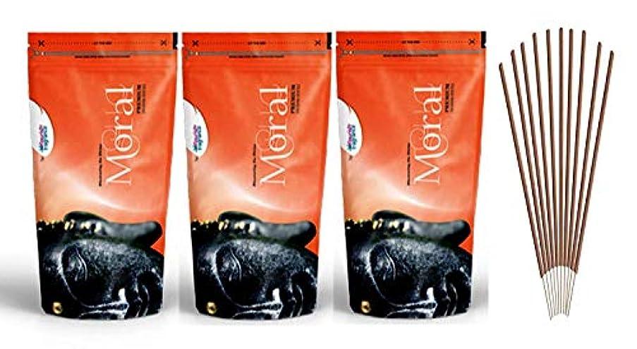 レスリングマカダム抵抗するFLORISH FRAGRANCE Moral Orange Incense Sticks Pack of 3 (140 Gm Each)