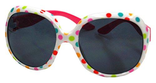 グローベビー baby グローベビー growbaby Kids Girl Sunglasses, 女児2~6歳UVカットサングラス 水玉 ポリカーボネート製 23044