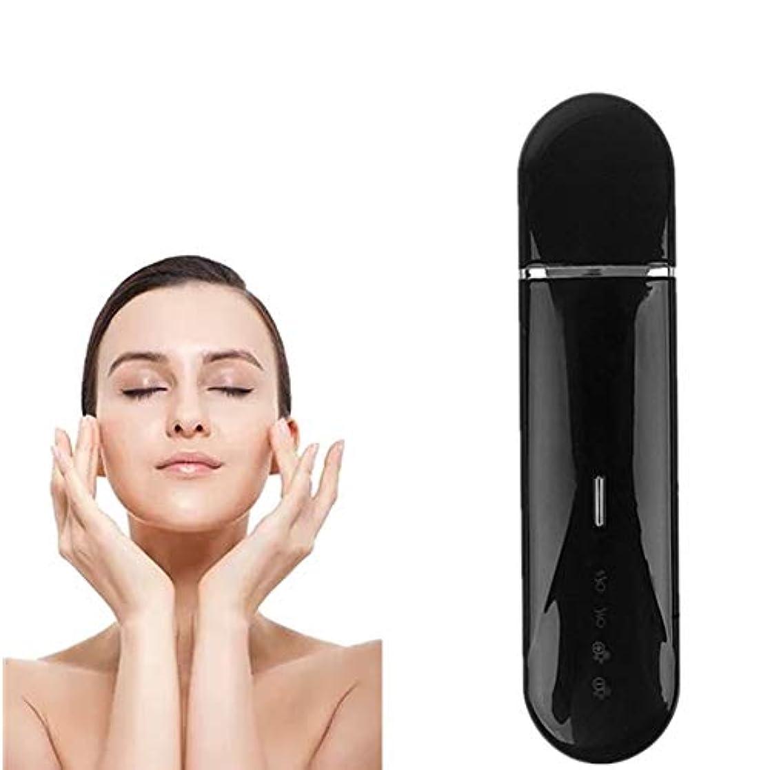 ありそう人勉強する顔の皮膚スクラバー?フェイシャル美容機器のUSB充電式デバイスブラックヘッドリムーバー毛穴掃除機モードツールスキンケアピーリングしわ除去機 - 黒のピーリング?フェイシャルリフティング