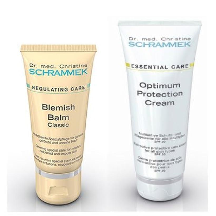 鏡時々時々先シュラメック 「BBクリーム(カラー:クラシック)&紫外線カットクリームセット」ブレミッシュバルム 30ml&オプティマムプロテクションクリームLSF20