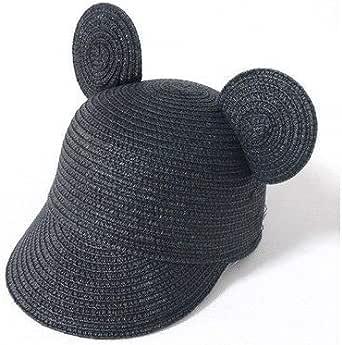 麦わら帽子 キャップ キッズ 子ども用帽子 ストローハット 耳付き帽子 くま耳 猫耳 耳つき UVカット 赤ちゃん おしゃれ かわいい マリン帽 双子
