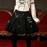 ランバスプリーツスカート p013 ゴスロリ ロリータ パンク コスプレ コスチューム メイド オフ白 m