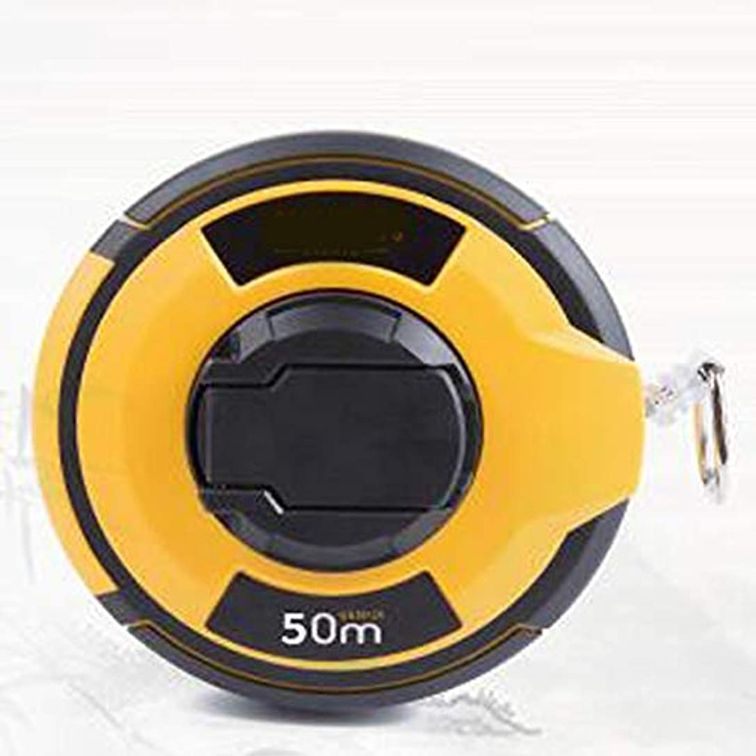 モンクドナー正確さXIAOCHAOSD 測定テープ、手動の高精度伸縮鋼巻尺、黒+オレンジ、20m / 30m / 50m (Color : Black+Orange, Size : 30m)