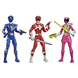 Power Rangers Beast Morphers Special Episode 3-Pack Action Figure Toys Dino Thunder Blue Ranger, Mighty Morphin Red Ranger, Dino Charge Pink Ranger