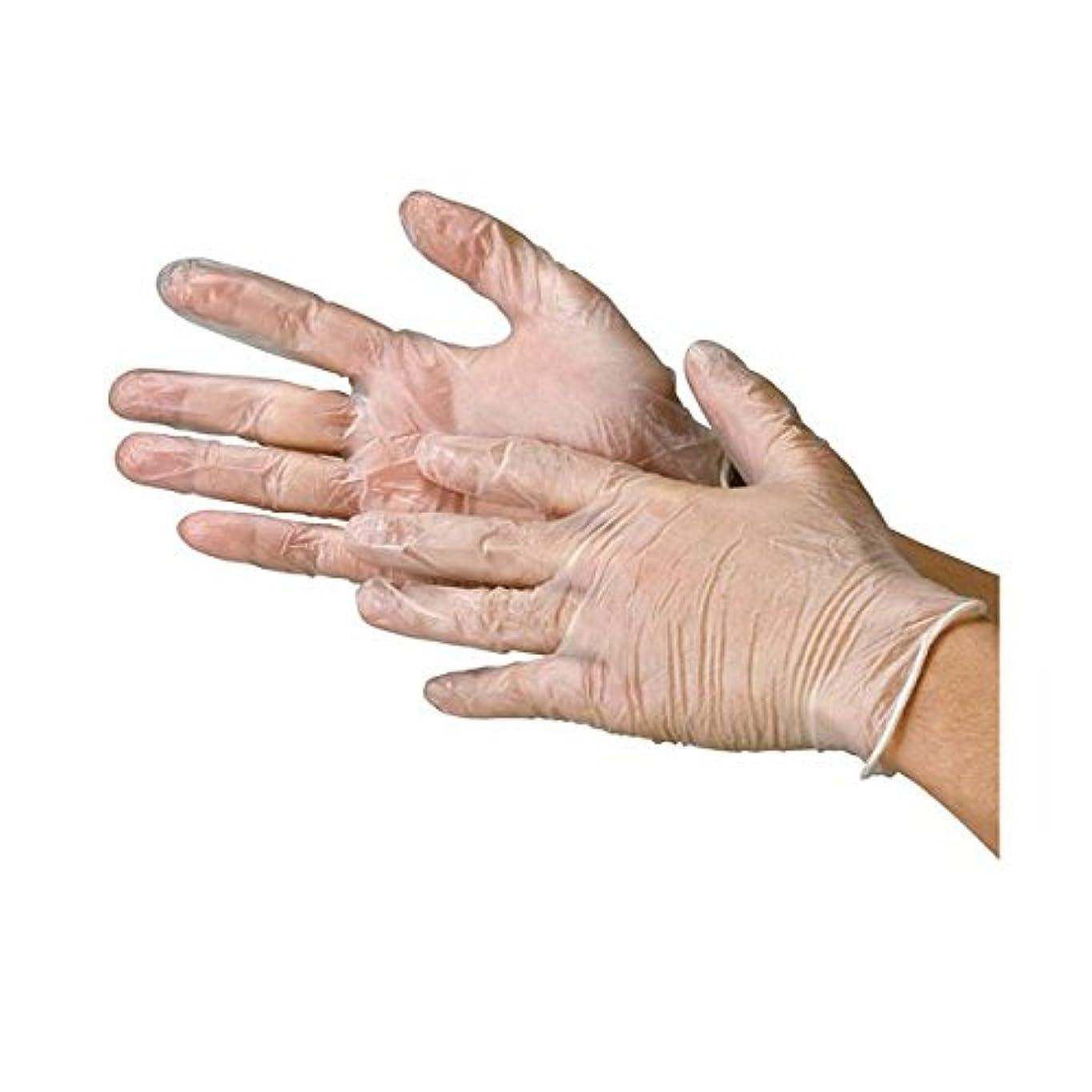 川西工業 ビニール極薄手袋 粉なし S 20箱 ds-1915776