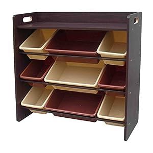 おもちゃ箱 ラック 天板付 ブラウン 幅86.2×奥行28×高さ79.5cm