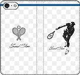iPhone/Xperia/Galaxy/他機種選択可:テニス/グラフィティ/へのへのもへじタッチ手帳ケース(デザイン:スイス_01) 07 iPhone8