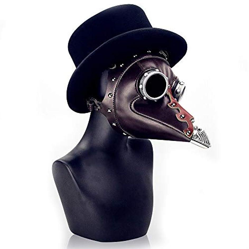 輪郭インストラクター現代のスチームパンクなハロウィーンペストビークドクターマスク