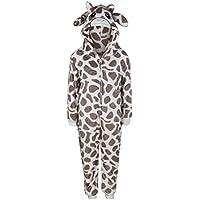Kids Girls Boys Soft Fluffy Animal Monkey Gorilla Leopard Skull Onesie Costume