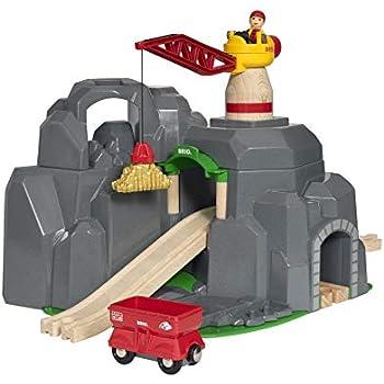 BRIO (ブリオ) WORLD クレーン&マウンテントンネル [ 木製レール おもちゃ ] 33889