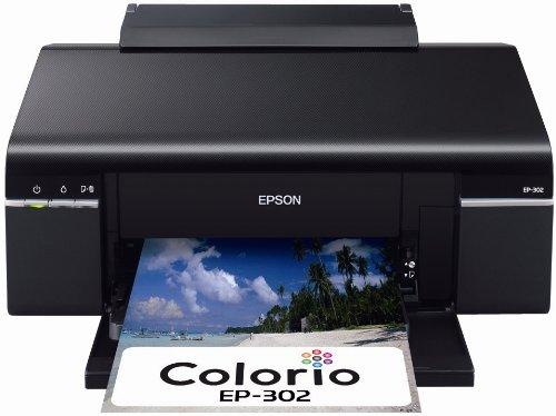 EPSON Colorio インクジェットプリンター EP-302 6色染料インク
