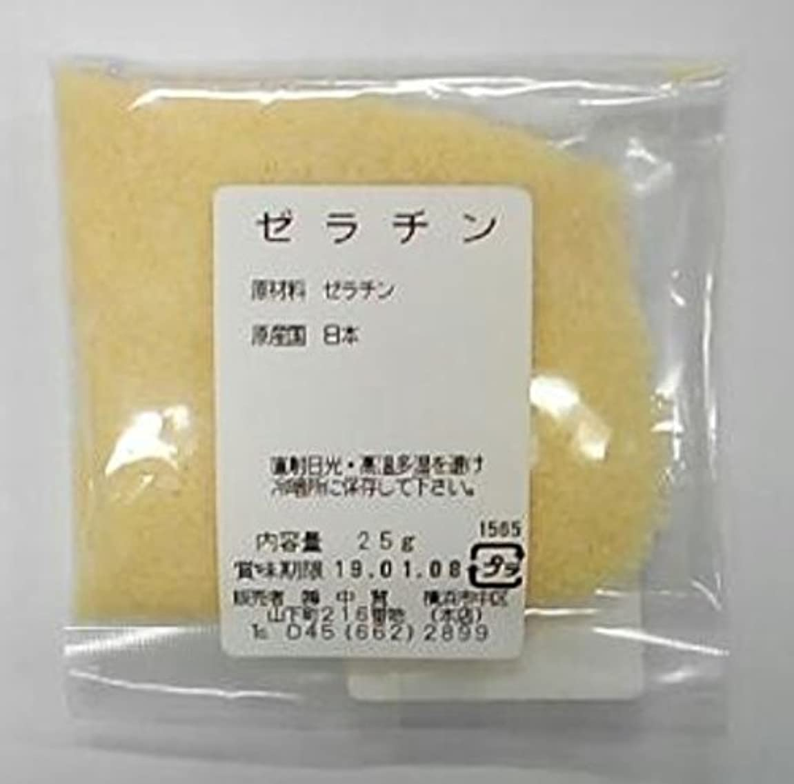 バッジチート爬虫類横浜中華街の味が自宅で! ゼラチン 25g、ちょっと使うならのサイズ、使い切る?