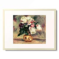ピエール=オーギュスト・ルノワール Pierre-Auguste Renoir 「Roses blanches, 1907」 額装アート作品