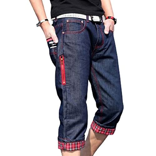 kimurea select メンズ ファッション カジュアル ストリート デニム ハーフ ショート パンツ ジーパン (Mサイズ, Aタイプ)