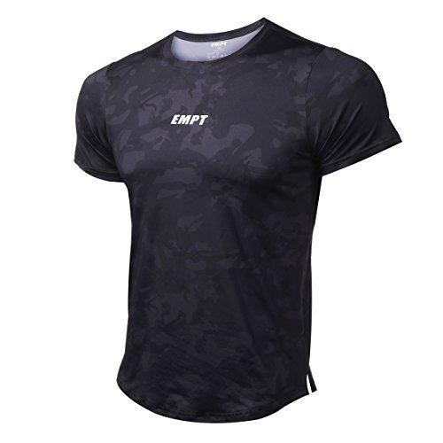 EMPT(イーエムピーティー) メンズ トレーニングウェア フィットネスTシャツ 半袖 吸汗速乾 スポーツTシャツ ストレッチTシャツ トレーニングシャツ
